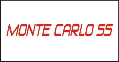 Monte Carlo SS #1 Windshield Decal
