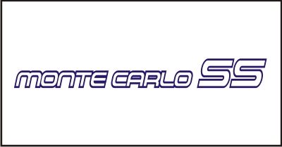 Monte Carlo SS #2 Windshield Decal